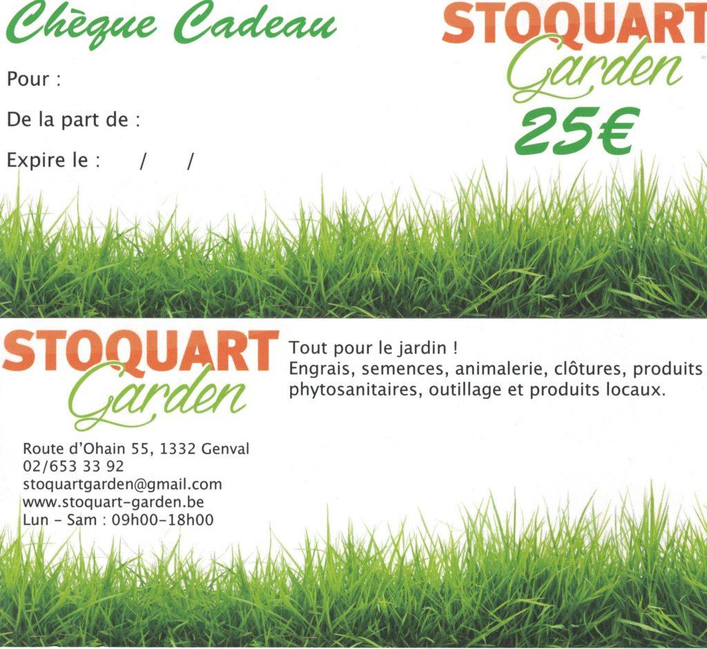 Chèque Cadeau Stoquart Garden